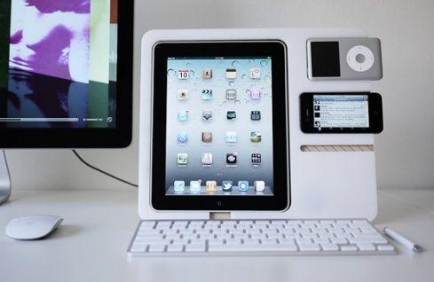 Un stand para iPad, iPhone e iPod al tiempo