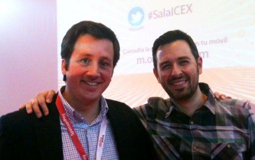 Rand Fishkin (CEO de SEOmoz) y Tristán Elósegui en OMExpo