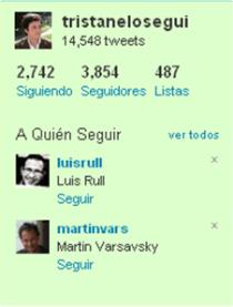 Twitter: sugerencias personalizada de usuarios