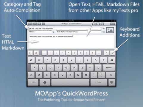 quickwordpress para iPad