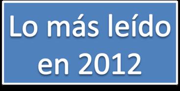 Lo más leído en 2012