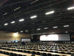 Tristán Elósegui en Expomarketing Colombia 2016 - sala del evento vacía