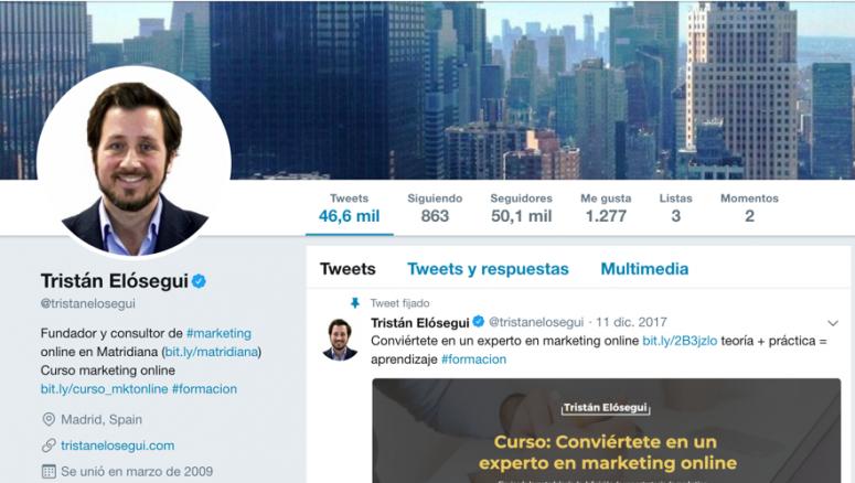 perfil twitter tristan elosegui marzo 2018