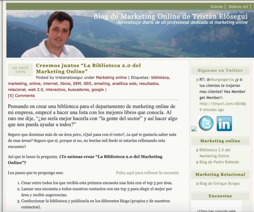 Home blog marketing Tristán Elósegui