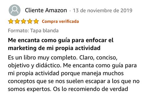 Testimonio - Cliente Amazon
