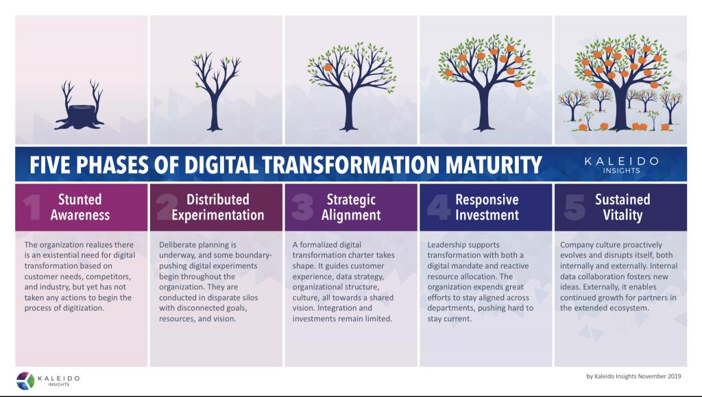 fases de la transformación digital Kaleido Jeremiah Owyang
